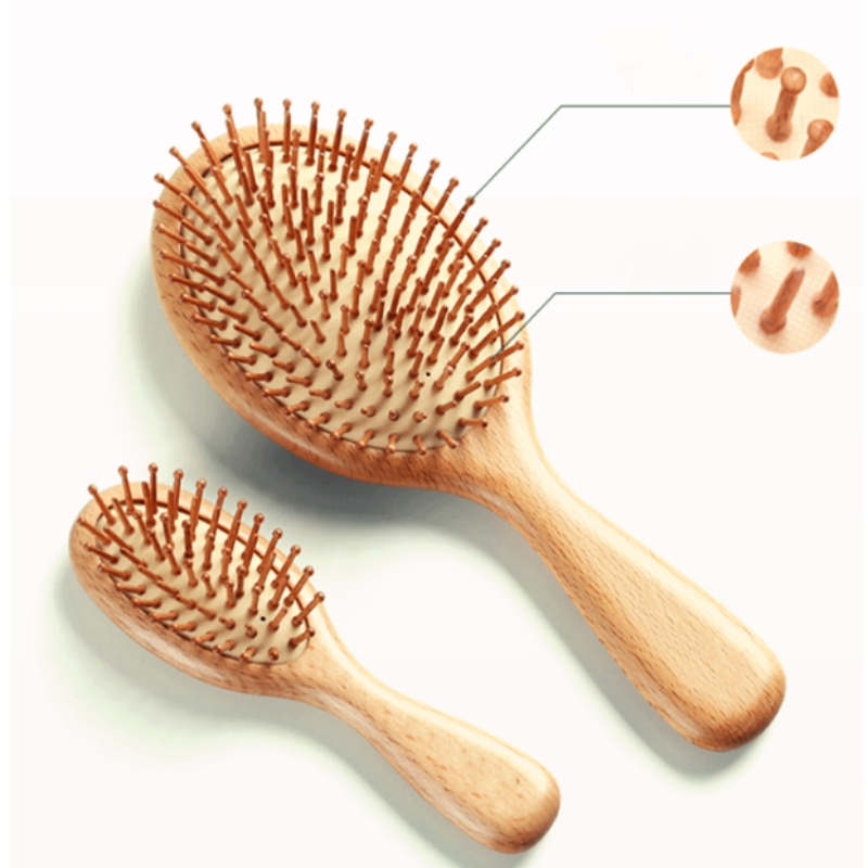 3 Piece Comb kit Scalp massage airbag curl comb anti-static air cushion makeup wooden comb customized